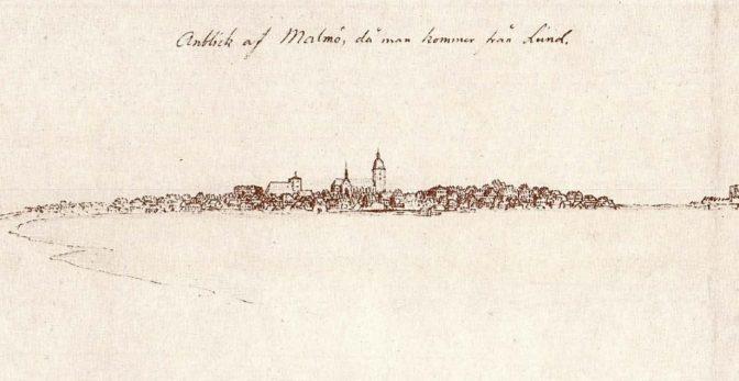 En skymt av Höga Möllan på 1820-talet