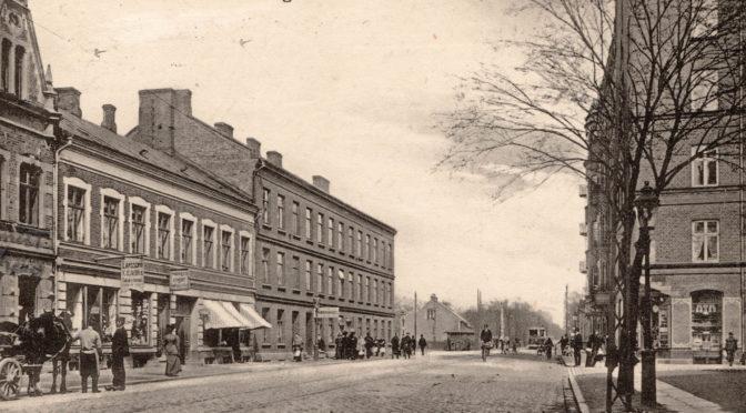 Lundavägen. Mellan- och Fredsgatorna 1909/10
